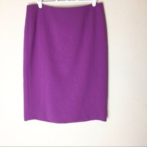 Halogen Purple Pencil Skirt